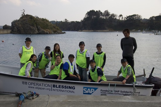 今回もSAP Japan TEARS team(SAPジャパン株式会社の震災復興支援チーム)から10名が大活躍してくれました。