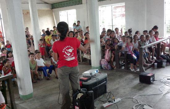 水の浄化方法を教える講習会