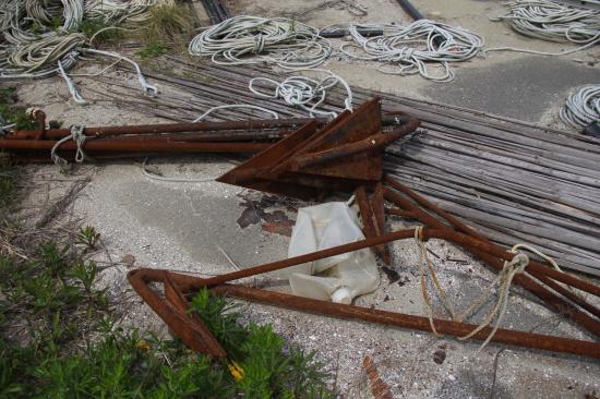 震災直後に寄付した漁船のアンカー