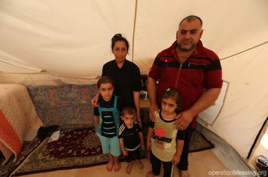 ミリアムと家族のテント生活