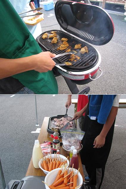 志津川中仮設で炊き出しのお手伝い
