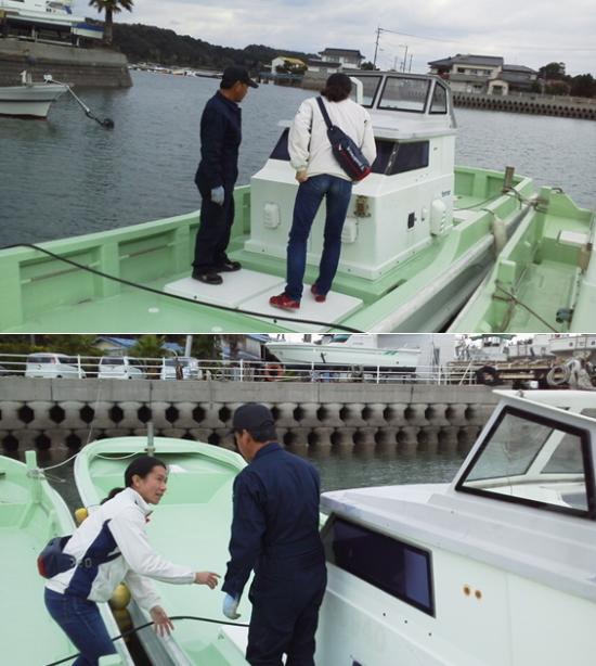 うらと海の子再生プロジェクト代表の小泉さんと共に視察