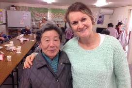 宮城県登米市の仮設住宅に住むおばあちゃん