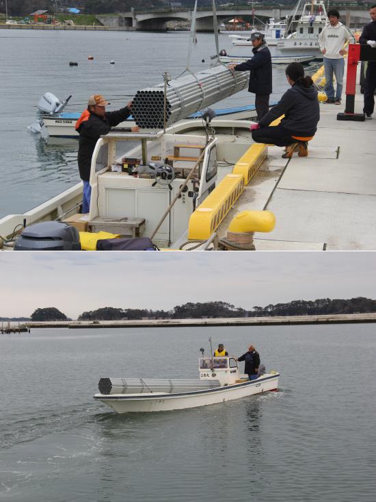 冬の牡蠣の収穫に向けた養殖の準備が着々と進められています