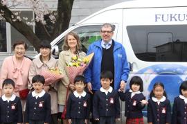 福島こひつじ幼稚園に10人乗りバス寄贈プロジェクト完了