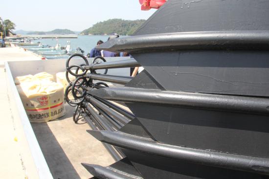 若手漁師育成のための牡蠣養殖筏用アンカー納品