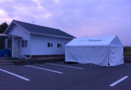 【熊本地震支援】物資用テントと南阿蘇炊き出し支援