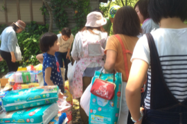 【熊本地震支援】南阿蘇で自宅避難者への物資配布