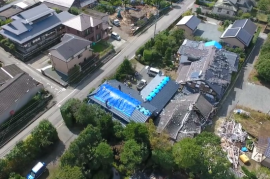 【ビデオ】熊本地震 益城町 息子さんと守る家 ブルーシート支援