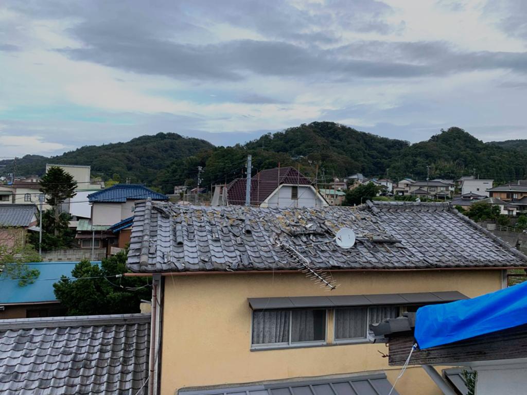台風15号で被害を受けた屋根