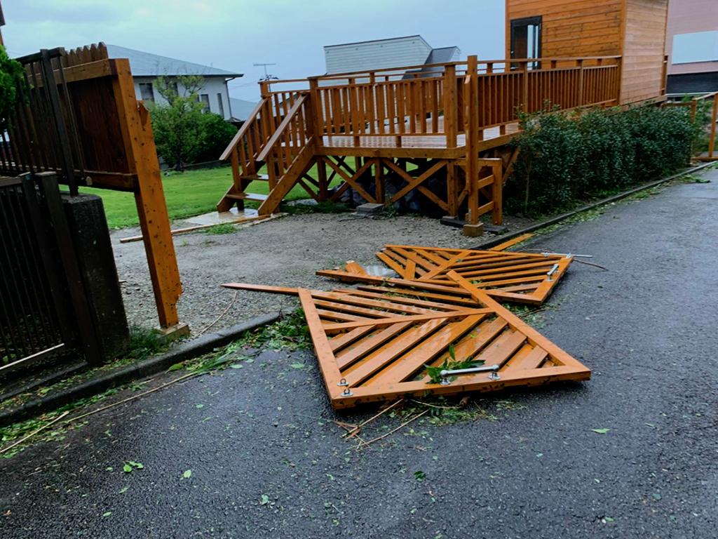 台風15号で被害を受けた家