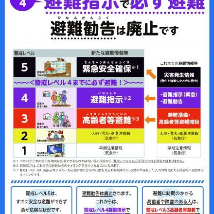 内閣府「新たな避難情報に関するポスター・チラシ」