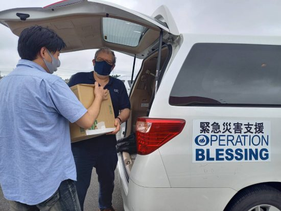 熱海土砂災害 支援物資積み込み